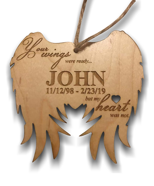 """Your Wings Were Ready"" Memorial Ornament"
