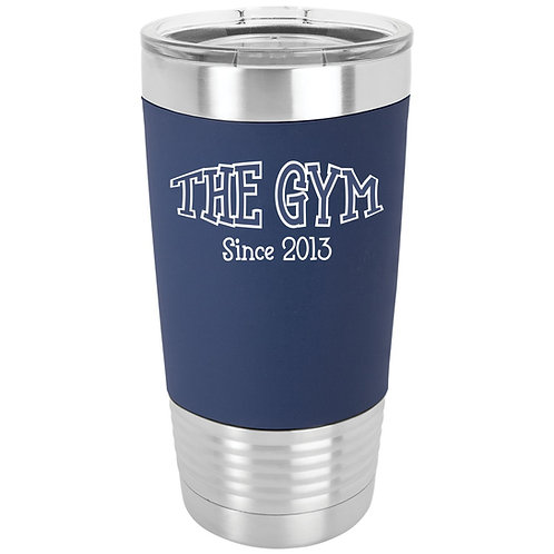 The Gym- 20 oz. Silicone Grip Tumbler with Clear Lid