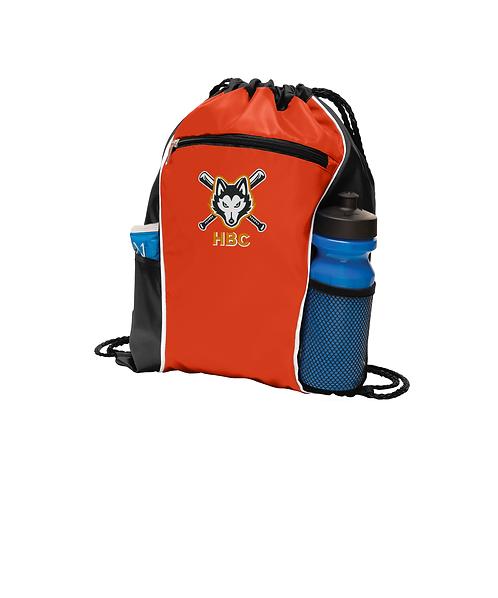 Harlem Huskies Embroidered Orange Fast Break Cinch Pack HBC Logo