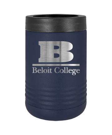 Beloit College Navy Polar Camel Stainless Steel Vacuum Insulated Beverage Holder