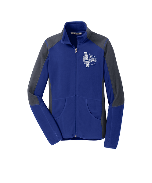 Country Riders Embroidered Colorblock Microfleece Jacket