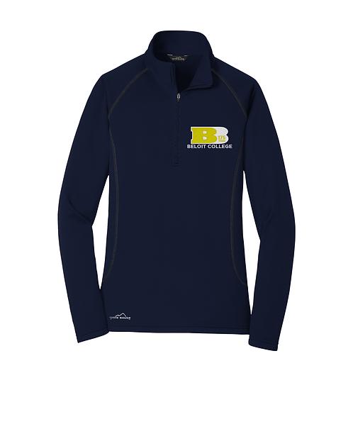 175th Anniversary River Blue Navy Eddie Bauer® Ladies Smooth Fleece 1/2-Zip