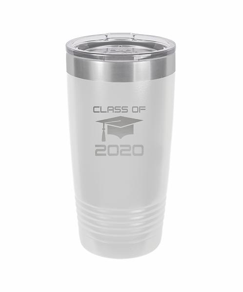 Class of 2020 Polar Camel 20 oz. White Ringneck Vacuum Insulated Tumbler