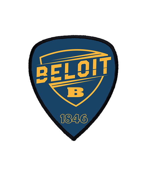 """Beloit College 3""""x3 1/2"""" Shield Patch with Adhesive & Black Border"""