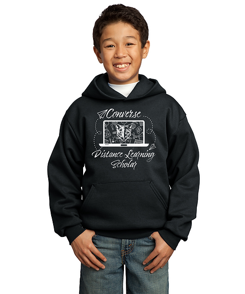 Youth Converse Distance Learning Graphic Unisex Pullover Sweatshirt