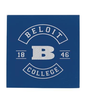 "Beloit College 10"" x 10"" Blue/Silver Leatherette Wall Decor"
