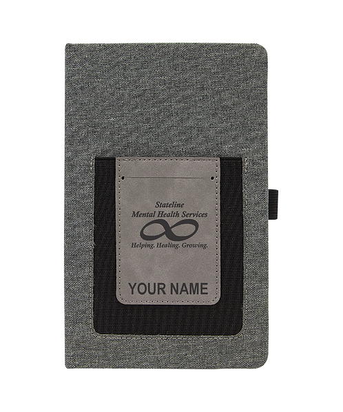 Stateline Mental Health Laserable Leatherette Journal with Cell/Card Slot