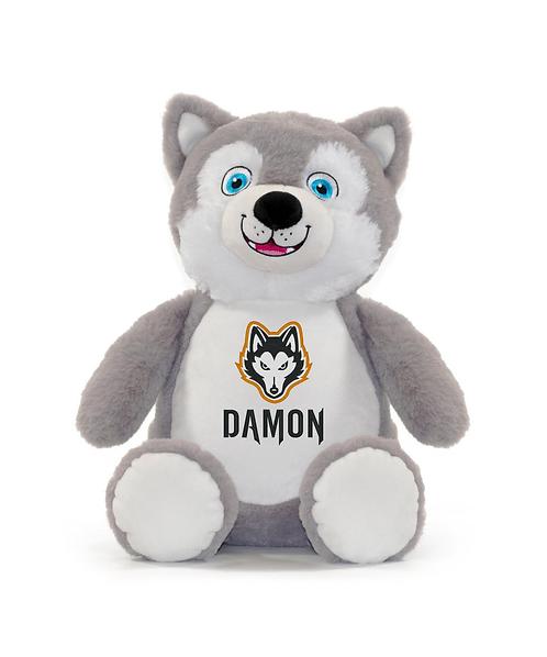 Harlem Huskies Embroidered Husky Stuffed Animal Personalized w Name