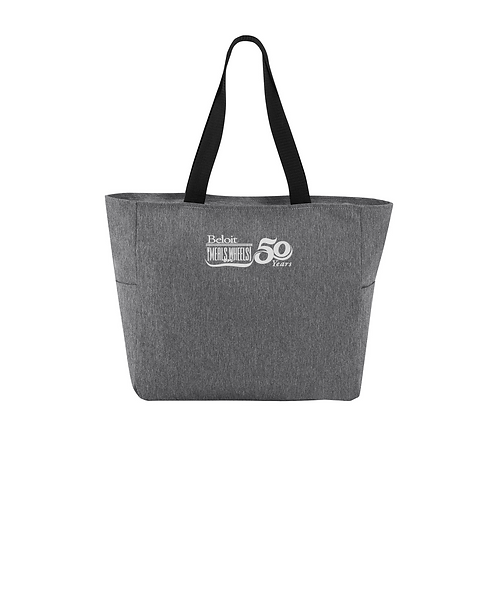Beloit Meals on Wheels Embroidered Essential Zip Tote