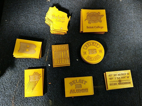 College Store Wooden Magnets