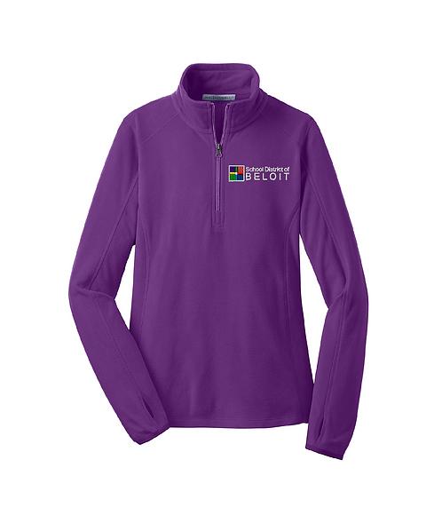 School District of Beloit Embroidered Ladies Microfleece 1/4-Zip Pullover