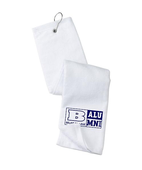 Beloit College White Alumni Port Authority Grommeted Tri-Fold Golf Towel