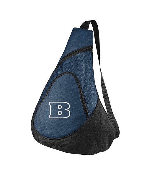 Beloit College Embroidered Navy Honeycomb Sling Pack