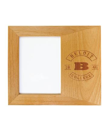 """Beloit College Genuine Red Alder 5"""" x 7"""" Picture Frame"""