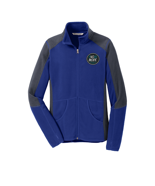 S.A.R.P Embroidered Ladies Patriot Blue/Grey Colorblock Microfleece Jacket