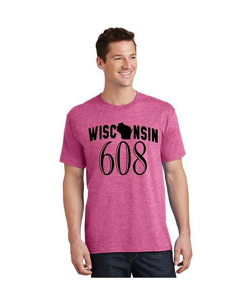 """College Store """"Wisconsin 608"""" Tee"""