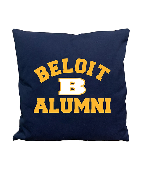 "Beloit College 17 1/2""x17 1/2"" Navy Alumni Pillow"