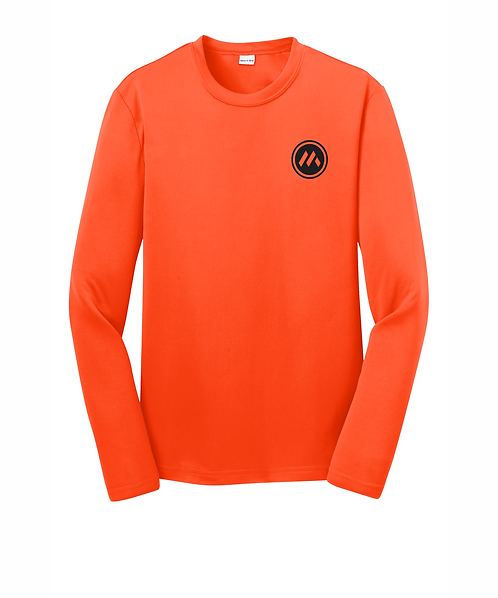 Mid-States YOUTH Long Sleeve PosiCharge Tee w/ Front & Back Logo