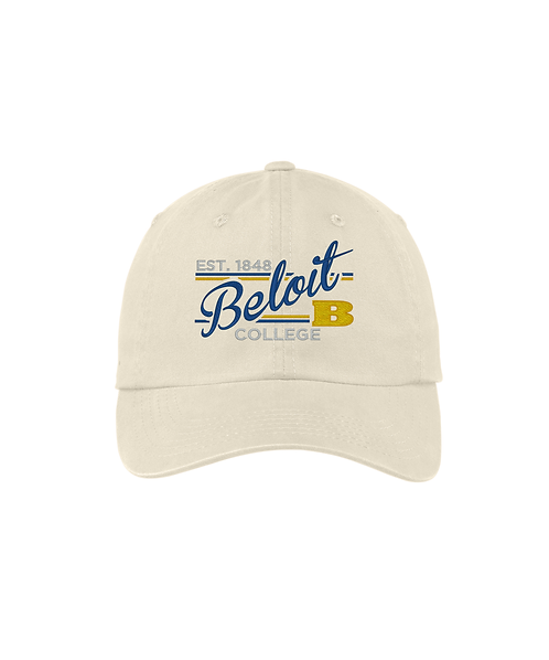 Beloit College Embroidered Stone - Port Authority Ladies Garment Washed Cap