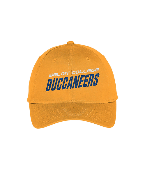 Beloit College Puff Embroidered Gold Port & Company Unstructured Twill Cap