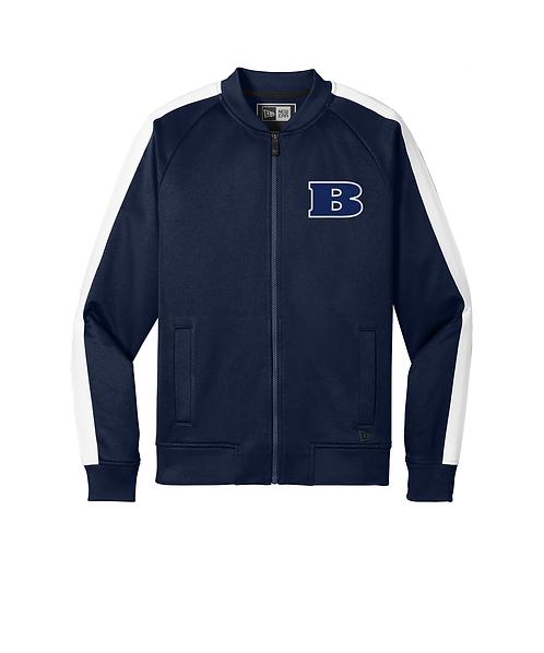 Beloit College Embroidered True Navy/White New Era Track Jacket
