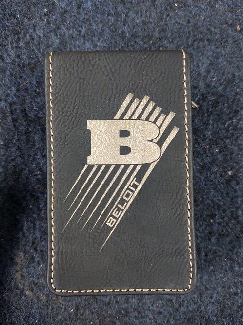 College Store 7-Piece Black/Gold Leatherette Manicure Set