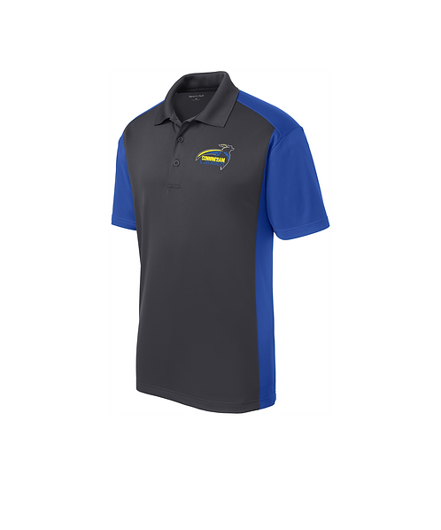 Cunningham Cavaliers Embroidered Colorblock Micropique Sport-Wick Polo