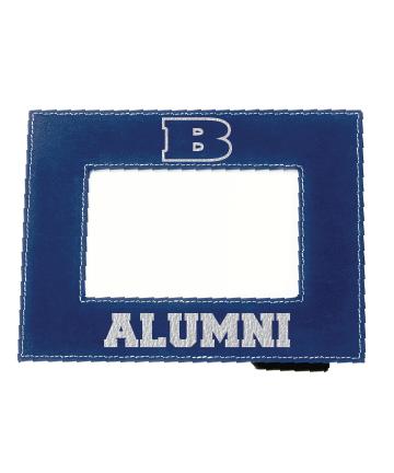 "Beloit Collge 4"" x 6"" Blue/Silver Leatherette Photo Frame"
