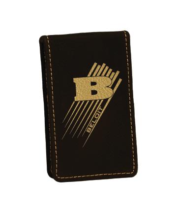 Beloit College 7-Piece Black/Gold Leatherette Manicure Set