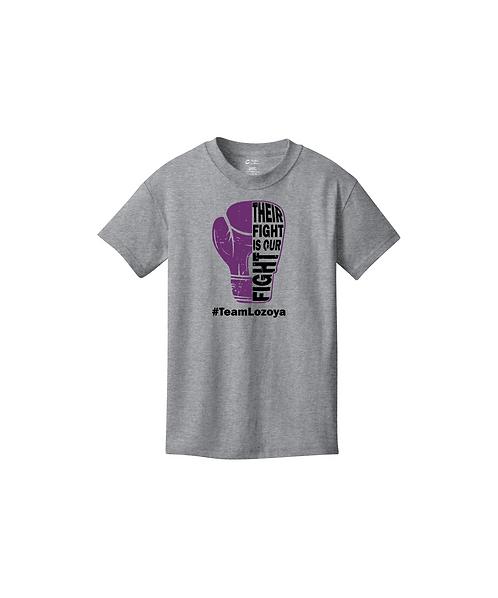 #TeamLozoya Athletic Heather Youth Unisex Core Cotton Tee
