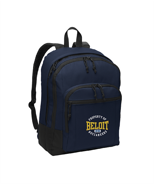 Beloit College Embroidered Navy Basic Backpack
