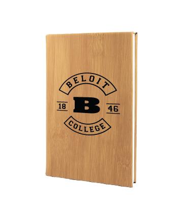 "Beloit College 5 1/4"" x 8 1/4"" Bamboo Leatherette Journal"