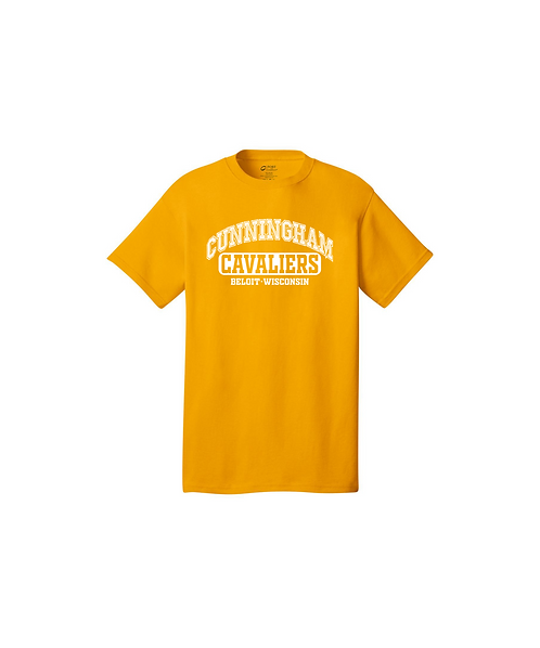 Cunningham Cavaliers Arched Graphic Unisex Core Cotton Tee