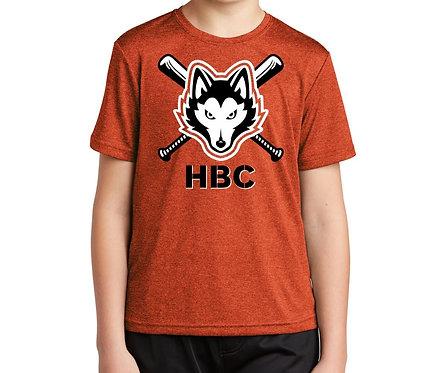 Harlem Huskies YOUTH Deep Orange Heather Sport-Tek Contender Tee