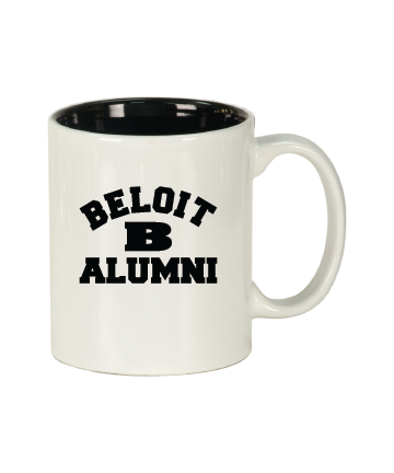 Beloit College 11 oz. White/Black Ceramic Round Mug