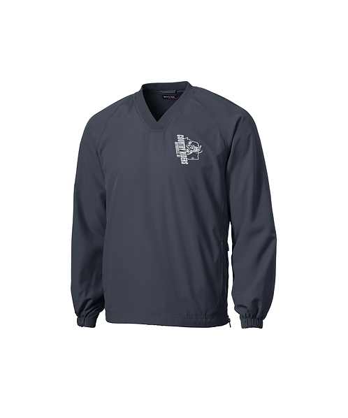 Country Riders Embroidered V-Neck Raglan Wind Shirt