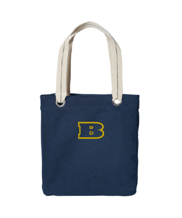 Beloit College Embroidered Navy/Chili Red Port Authority® Allie Tote