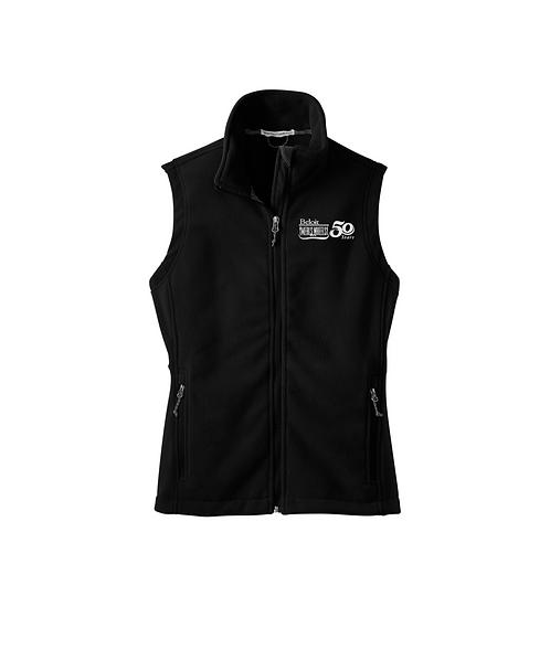Beloit Meals on Wheels Black Embroidered Fleece Vest