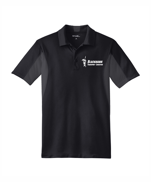 Blackhawk Transport Embroidered Men's Side Blocked Micropique Sport-Wick Polo