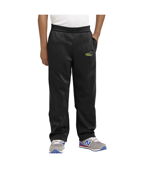 Cunningham Youth Black Embroidered Sport-Wick® Fleece Pant