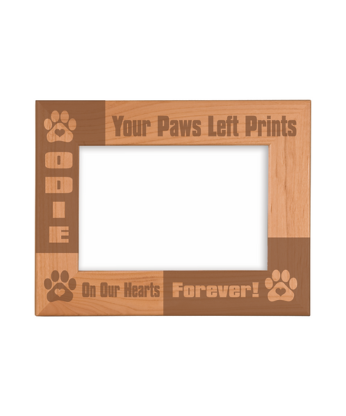 "Pet 4""x6"" Genuine Red Alder Picture Frame"