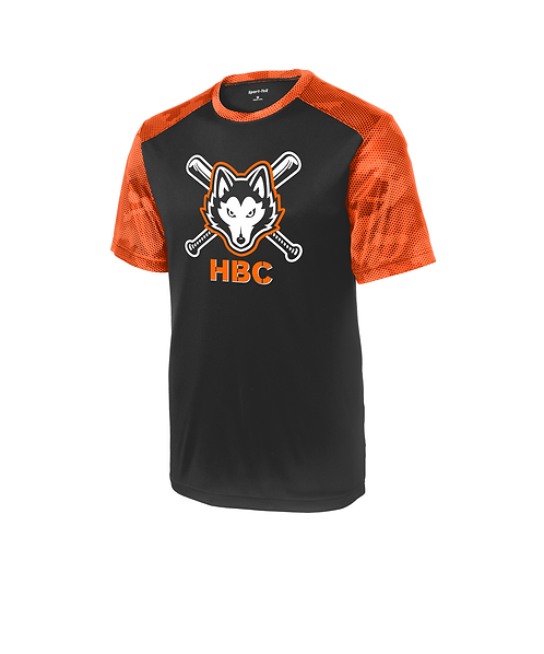 Harlem Huskies YOUTH CamoHex Colorblock Tee