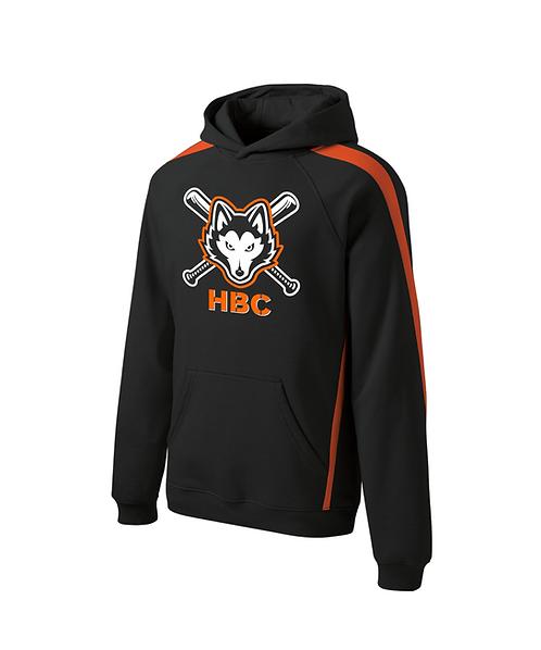 Harlem Huskies Black/Deep Orange Pullover Hooded Sweatshirt