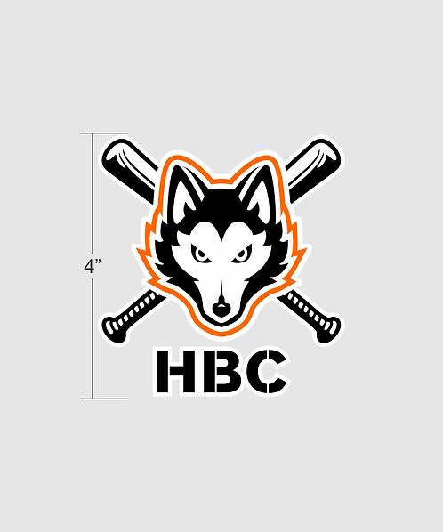Harlem Huskies Car Decal