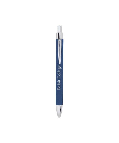 Beloit College Blue/Silver Leatherette Pen