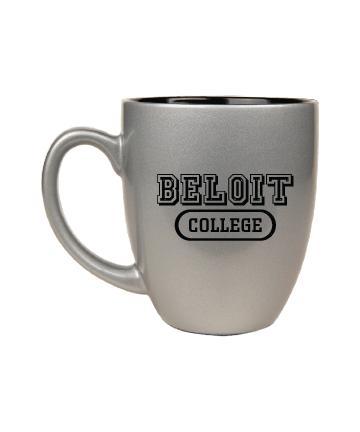 Beloit College 16 oz. Silver Ceramic Bistro Mug