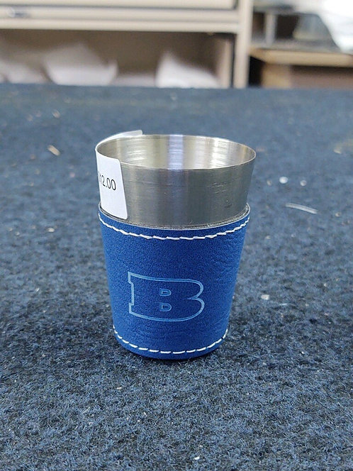 College Store 2 oz. Blue/Silver Stainless Steel Shot Glass