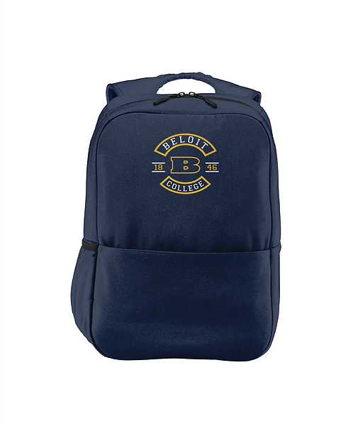 Beloit College Embroidered Navy Access Square Backpack