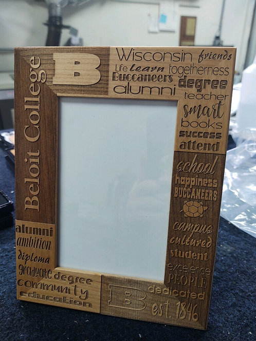 "College Store 4"" x 6"" Genuine Red Alder Picture Frame"