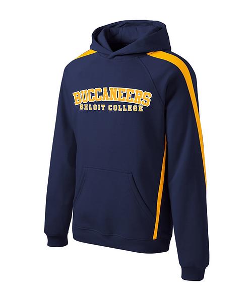 Beloit College True Navy/Gold Sport-Tek Pullover Hooded Sweatshirt